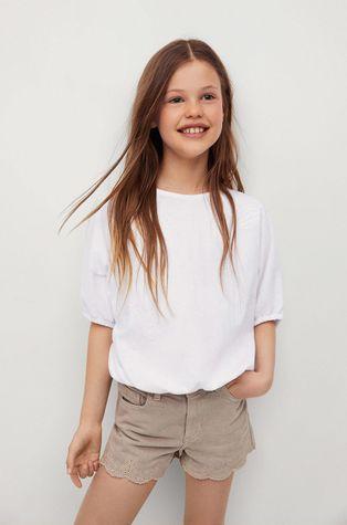 Mango Kids - Дитяча бавовняна блузка Terra 116-164 cm