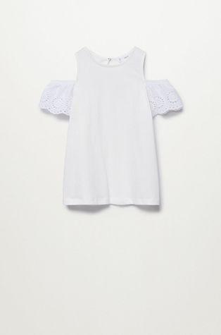Mango Kids - Детска памучна блуза Lili 110-164 cm