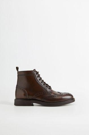 Mango Man - Кожаные ботинки Botinlig