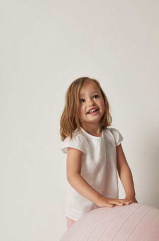 Mango Kids - Bluzka bawełniana dziecięca Win 80-104 cm