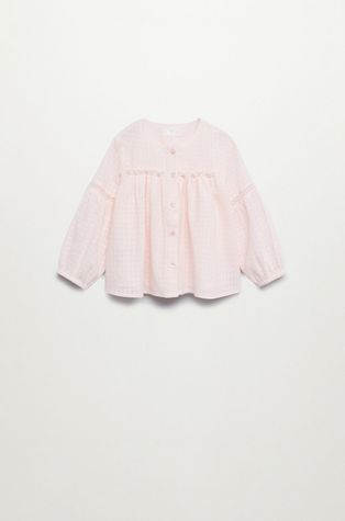 Mango Kids - Детска памучна блуза MONTANA