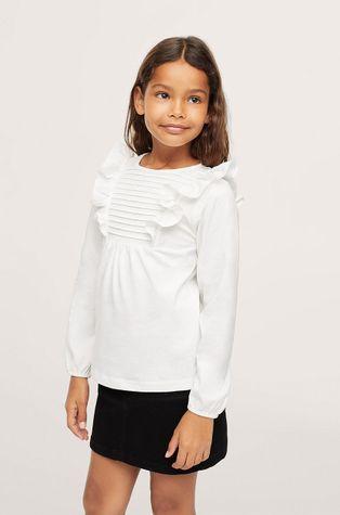 Mango Kids - Детска памучна блуза Danae