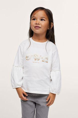 Mango Kids - Детска памучна блуза Oveja