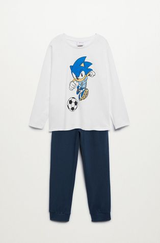 Mango Kids - Детска памучна пижама Sonic