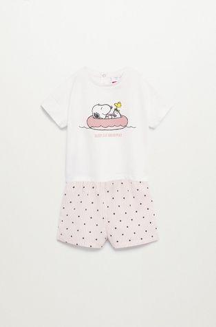Mango Kids - Detské pyžamo Snoopyb 80-104 cm