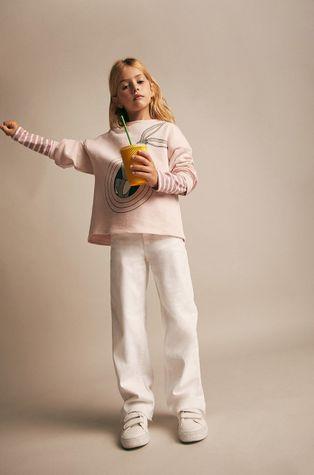 Mango Kids - Дитяча бавовняна кофта Folk
