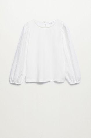 Mango Kids - Детска памучна блуза Plumeti