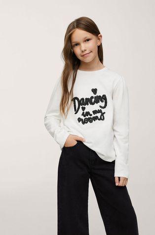 Mango Kids - Дитячий бавовняний лонгслів Dancing