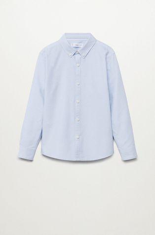 Mango Kids - Детская хлопковая рубашка OXFORD