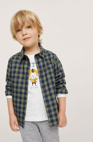 Mango Kids - Детская хлопковая рубашка Peter