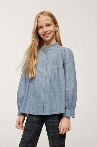 Mango Kids - Детская хлопковая рубашка Leon