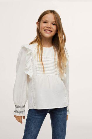 Mango Kids - Детска памучна блуза Zinc
