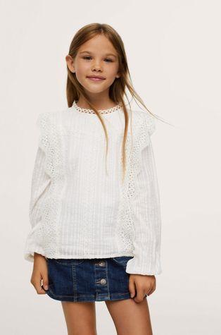 Mango Kids - Детская хлопковая рубашка Daniela