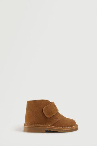 Mango Kids - Pantofi din piele intoarsa pentru copii DESERT