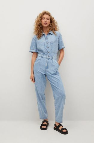 Mango - Kombinezon jeansowy Parisin
