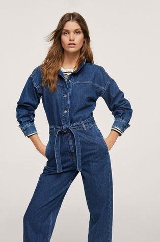 Mango - Kombinezon jeansowy Naomi