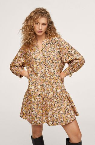 Mango - Bavlněné šaty Diana