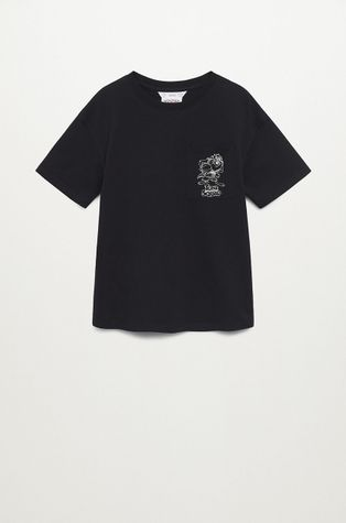 Mango Kids - Dětské bavlněné tričko Squad 116-164 cm