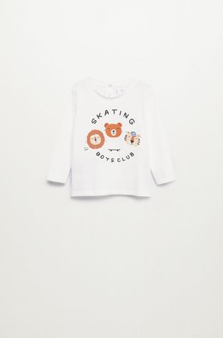 Mango Kids - Detské tričko s dlhým rukávom Skate