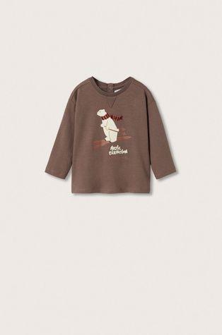 Mango Kids - Longsleeve bawełniany dziecięcy Artic