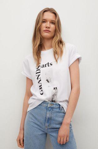 Mango - Bavlnené tričko PSTFAS