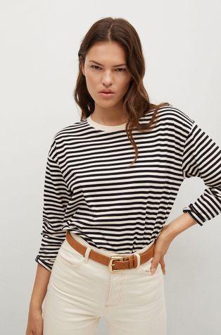Mango - Bavlnené tričko s dlhým rukávom RAYA