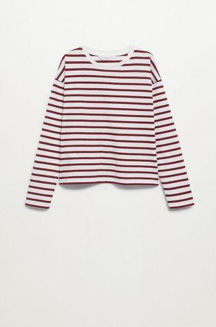 Mango Kids - Detské tričko s dlhým rukávom Stripes