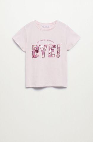 Mango Kids - Dětské bavlněné tričko Bye