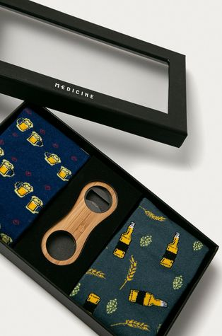 Medicine - Set cadou: sosete (2-pack) si desfacator de sticle Gifts