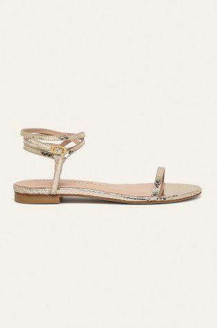 Stuart Weitzman - Kožené sandály Merinda Flat