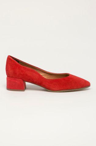 Marco Tozzi - Magassarkú cipő velúrból
