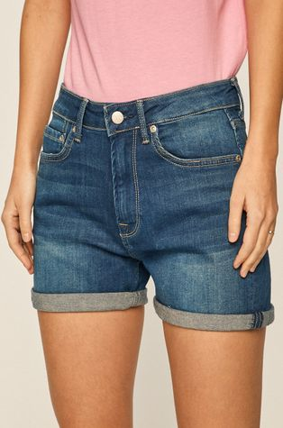 Pepe Jeans - Rifľové krátke nohavice Mary Archive