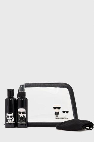 Karl Lagerfeld - Κιτ ταξιδιού - τσάντα καλλυντικών, μάσκα και δύο δοχεία