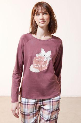 Etam - Pyžamové tričko s dlhým rukávom Fleur
