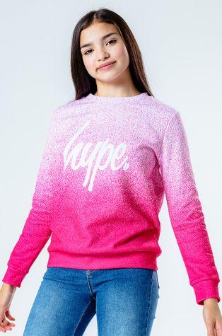 Hype - Bluza dziecięca PINK SPECKLE FADE