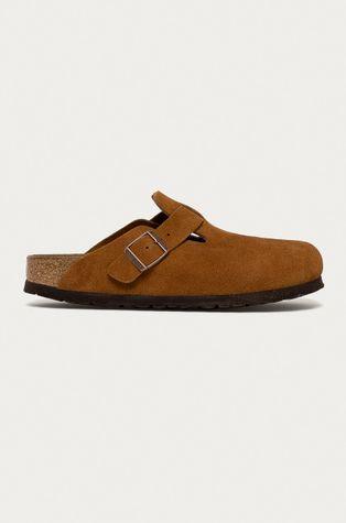 Birkenstock - Semišové pantofle Boston