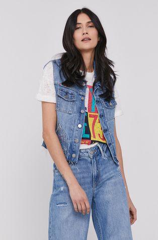 Pepe Jeans - Rifľová vesta Elsie