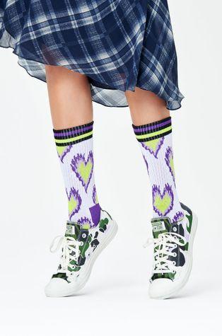 Happy Socks - Ponožky Burning Heart Thin Crew