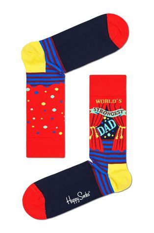 Happy Socks - Ponožky World´s Strongest Dad