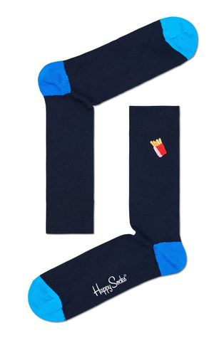 Happy Socks - Skarpety Ribbed Embroidery Fries