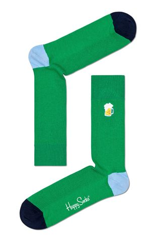 Happy Socks - Skarpety Ribbed Embroidery Beer