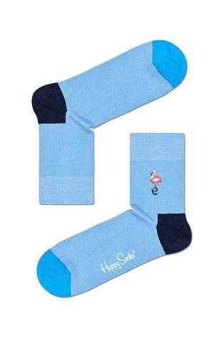 Happy Socks - Ponožky Embroridery Flamingo