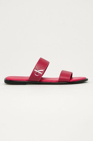 Calvin Klein Jeans - Kožené pantofle
