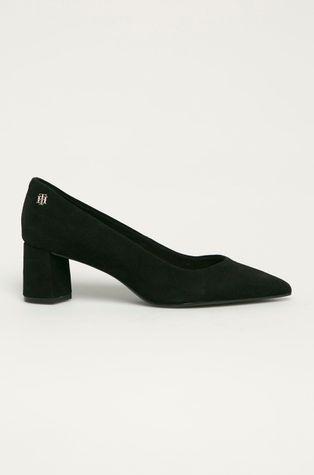 Tommy Hilfiger - Magassarkú cipő velúrból