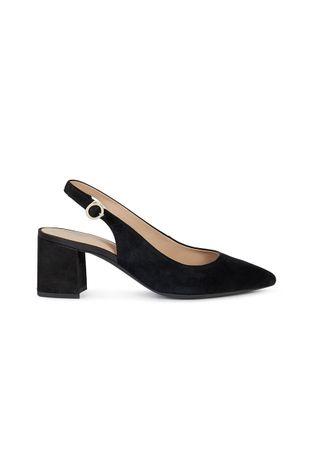 Geox - Magassarkú cipő velúrból
