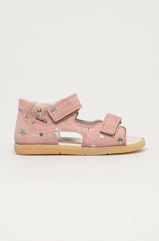 Mrugała - Detské semišové sandále z narodeninovej kolekcie