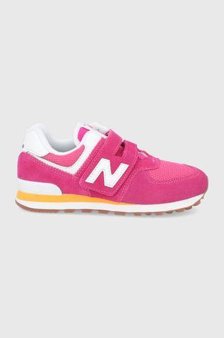 New Balance - Dětské kožené boty PV574HP2