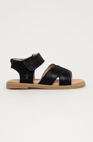 Emu Australia - Dětské kožené sandály Black Rose