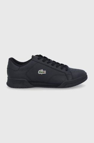 Lacoste - Kožená obuv Twin Serve