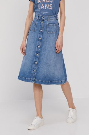 Pepe Jeans - Rifľová sukňa Annabelle